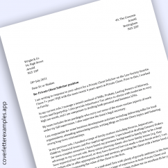 Solicitor / Attorney Cover Letter Example